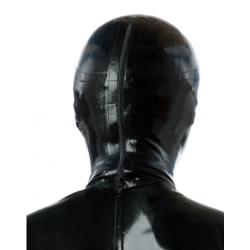 Maska lateks oczy usta głębokie otwory fetysz BDSM
