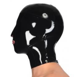 Maska unisex lateks otwarte usta fetysz BDSM