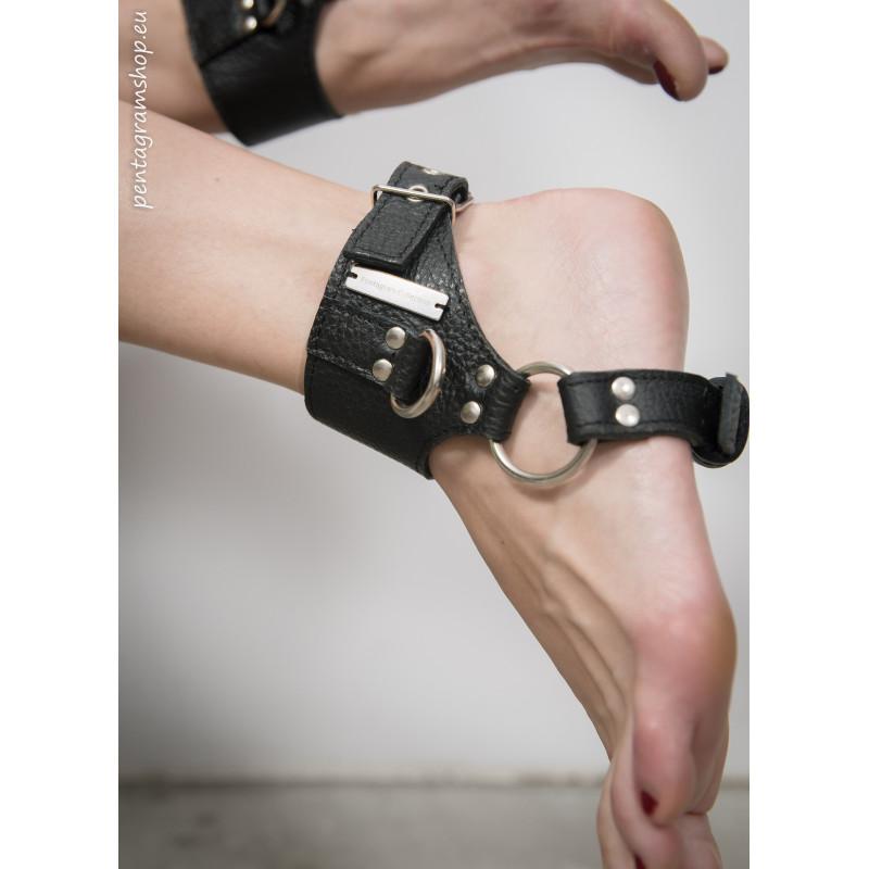 "Fetisch Leder Füßschellen BDSM ""Feet cage"""