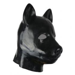 """Maska lateks """"pies"""" zwierzę przebranie fetysz BDSM"""