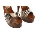 """Wyzywające skórzane sandały """"red soles"""" Fuss"""