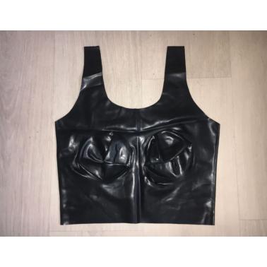 Lateks bluzka tank top profilowane piersi fetysz BDSM