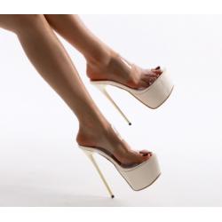 Weisse Hohe sexy Sandalen Schuhe 35-40 EU