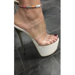 """Prowokujące klapki szpilki gogo obcas """"metal heel"""" 35-40 EU"""