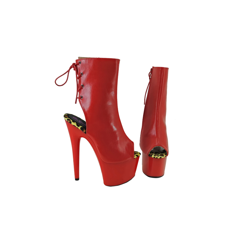 Pole dance gogo red hot ankle boots 36-41 EU