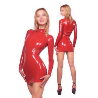 فستان بأكمام طويلة من اللاتكس للجنسين