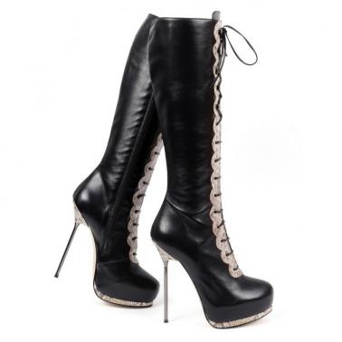 Sexy boots with sneak print metal heel 35-42 EU