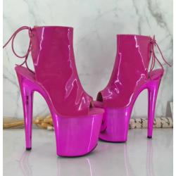 Fetish pole dance gogo 17 cm ankle boots 36-41 EU