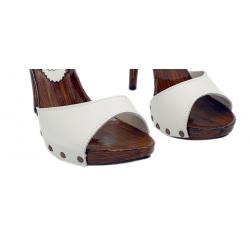 Summer Italian wooden extreme sexy mules clogs boho 35-42 EU