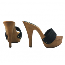 Summer fetish Italian heels mules clogs 35-42 EU