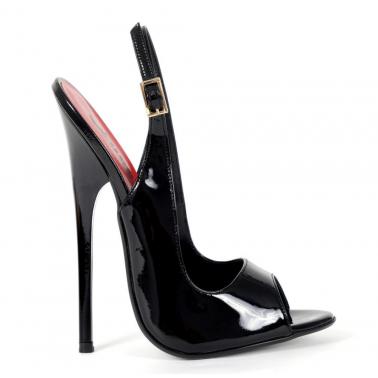 Czarne skórzane włoskie sandały fetysz 35-46 EU
