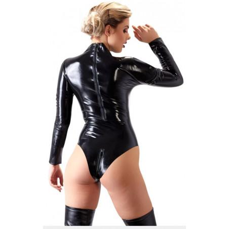 Lateks unisex body zamek fetysz BDSM