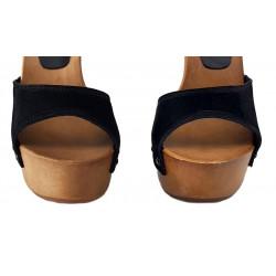 Italian wooden extreme sexy mules clogs boho 35-42 EU