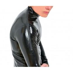 Latex catsuit extra shoulder zippers classic cut fetish BDSM