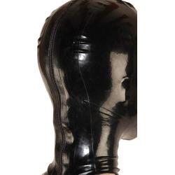 Fetisch Rosa Latexmaske mit Haarschwanz BDSM