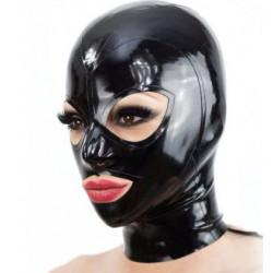 Latex unisex mask hood cat eyes fetish BDSM