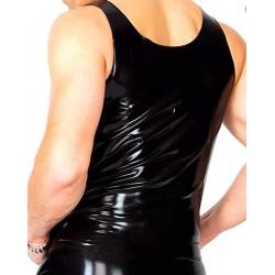 Male fetish minimalist latex tank top