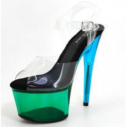 Kolorowe profesjonalne buty gogo 17 cm platformy szklanki 35-41 EU