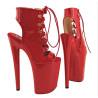 Italienische Schuhe Hohe Absätze aus lackiertem Leder
