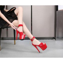 Ankle strap fetish unisex gogo sandals heels 35-42 EU