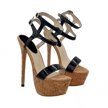 Seksowne drewniane włoskie sandały na platformie unisex 35-44 EU
