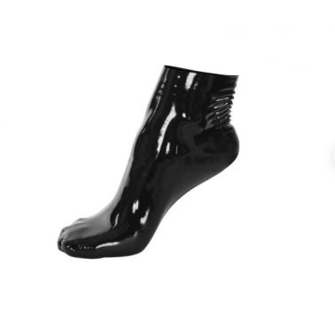 Lateks skarpetki krótkie pełne stopy fetysz BDSM