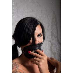 """Maska skóra BDSM zamek usta """"Fear"""""""
