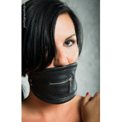 """Leather BDSM mouth mask """"Fear"""""""