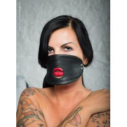 "Leather BDSM profile mouth mask ""Shout"""
