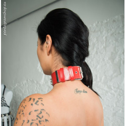 """Collar with front studs BDSM """"Glitter"""""""