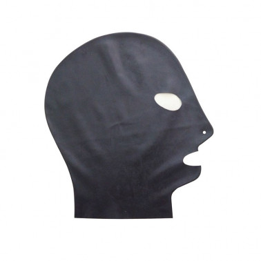 Latex mask hood open eyes and mouth fetish BDSM