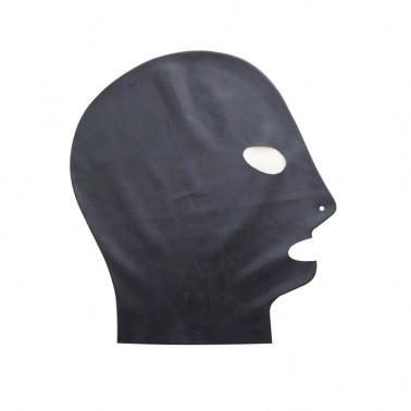 Maska lateksowa unisex oczy usta fetysz BDSM