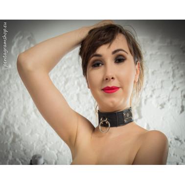 "Collar with leash fetish BDSM ""Fetish rings"""