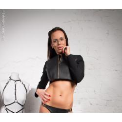 "Short sexy top vest fetish BDSM ""Vera"""