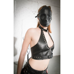 "Leather top metal holes fetish BDSM ""Cinderella"""
