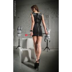 عشيقة فستان من الجلد