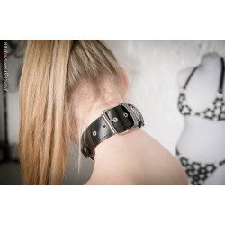 """Leather collar with rings fetish BDSM """"Circles"""""""