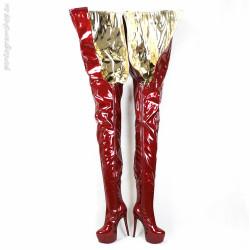 Trans Crossdress Klassische Fetisch Spike Stiefel...