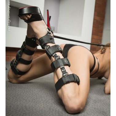 "Fetisch Leder Füßschellen BDSM ""Feet slave"""