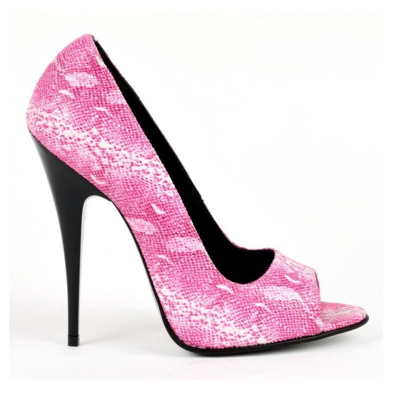 Metal heel high Italian mules