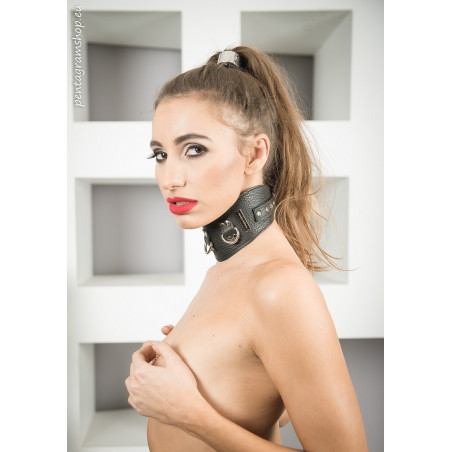 "Leder breiter Kragen BDSM ""Raped"""