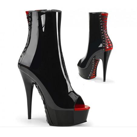 Metal heel clear Italian mules