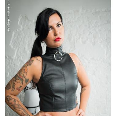 "Unisex top with front ring fetish BDSM ""Bennita"""