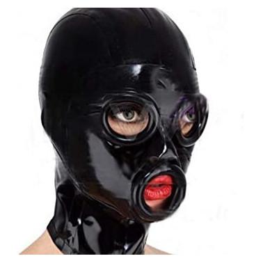 Fetisch Latexmaske mit Augen und Mundlöcher