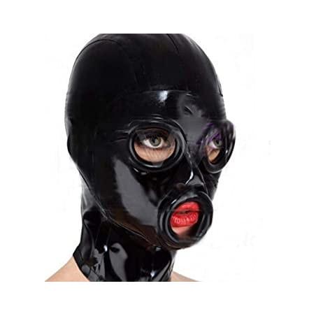 Latex hood mask deep eyes and mouth holes fetish BDSM
