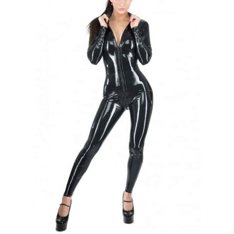 Kombinezon lateks catsuit unisex z przednim zamkiem fetysz BDSM