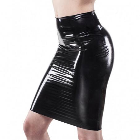 Lateks spódnica midi wysoki stan fetysz BDSM
