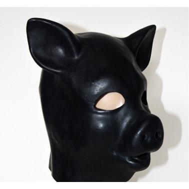 "Lateks animal mask hood ""pig"" fetish BDSM"