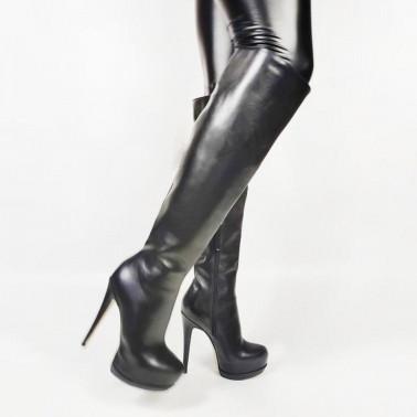 Klassische Fetisch Trans Crossdress Stiefel 35-48 EU
