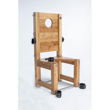 Dębowe wielofunkcyjne siedzisko krzesło fetysz BDSM